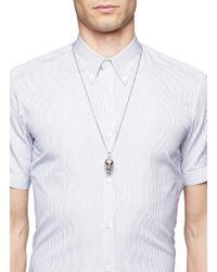 Alexander McQueen - Metallic Skull Necklace for Men - Lyst