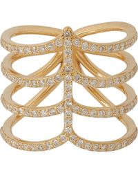 Ileana Makri | Metallic Diamond & Gold Sea Tree Ring | Lyst