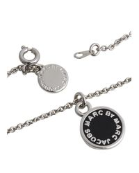 Marc By Marc Jacobs - Metallic Silver Tone Logo Necklace - Lyst