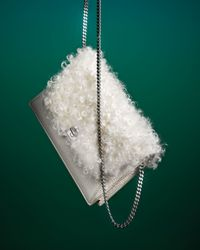 Akris - White Anouk Mini Shearling Fur Clutch Bag - Lyst