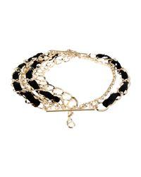 Twin Set | Black Bracelet | Lyst