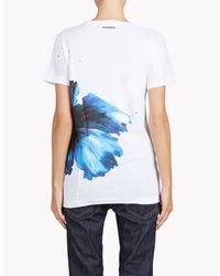 DSquared² - Blue 'long Cool Twisted' T-shirt - Lyst