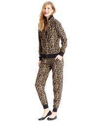 Michael Kors | Multicolor Michael Petite Leopard-print Zip-front Active Jacket | Lyst