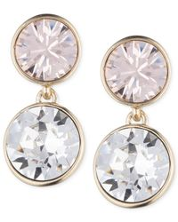 Givenchy | Pink Gold-Tone Round Double Drop Earrings | Lyst
