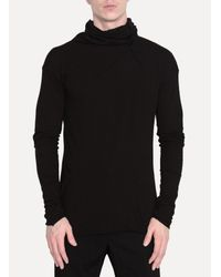 Lost and Found Rooms - Black High Neck Top for Men - Lyst