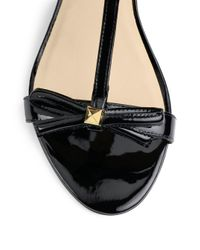 kate spade new york | Black Donna Patent Leather Wedge Sandals | Lyst