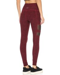 Beyond Yoga | Red Space Dye High Waisted Leggings - Black/steel | Lyst