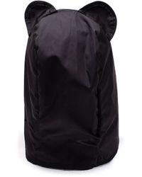 Maison Michel - Black Ears Tie Hood Hat - Lyst