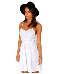Missguided - Tulissa Strappy Skater Dress In White - Lyst