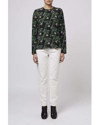 TOPSHOP | Green Twinkle Long Sleeved Blouse By Boutique | Lyst