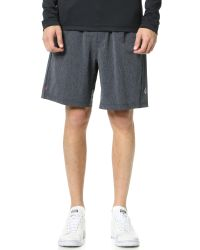 Rhone | Gray Bullitt Slub Active Shorts for Men | Lyst