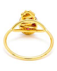 Daniela Villegas | Metallic Ruby And Citrine Beetle Ring | Lyst