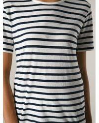 T By Alexander Wang - Blue Breton T-Shirt - Lyst