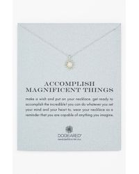 Dogeared - Metallic 'accomplish Magnificent Things' Pendant Necklace - Lyst