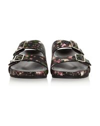 Givenchy - Pink Floral print Nappa Leather Sandals - Lyst