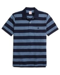 Brooks Brothers - Blue Original Fit Wide Bar Stripe Polo Shirt for Men - Lyst