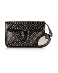 Alaïa - Black Double Pocket Small Embellished Leather Shoulder Bag - Lyst