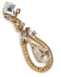 Erickson Beamon | Metallic 'heart Of Gold' Teardrop Crystal Earrings | Lyst