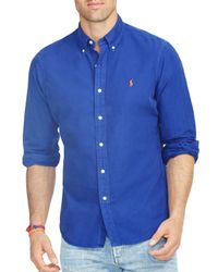 Ralph Lauren - Blue Polo Oxford Shirt for Men - Lyst