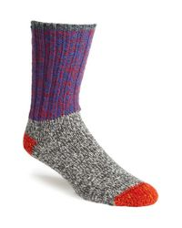 Woolrich | Blue Colorblock Merino Wool Blend Socks for Men | Lyst