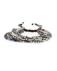 Chan Luu | Black Multi-strand Beaded Bracelet | Lyst