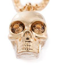 Alexander McQueen - Metallic Puzzle Skull Pendant Necklace - Lyst