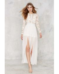 Nasty Gal - White Applique Mystique Lace Dress - Lyst