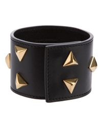 Saint Laurent | Black Studded Cuff | Lyst