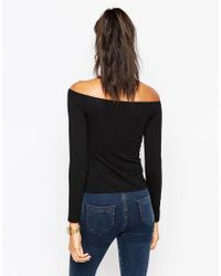 ASOS - Black Petite The Off Shoulder - Lyst
