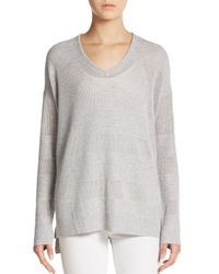 Splendid | Gray Hi-low Tunic Sweater | Lyst