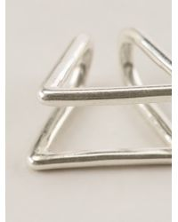 Coops London - Metallic Triangle Squeeze On Earrings - Lyst