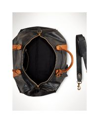 Polo Ralph Lauren | Black Two Tone Leather Duffle Bag for Men | Lyst