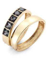 INC International Concepts | Metallic Crystal Hinge Bracelet Set | Lyst