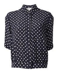 SUNO - Blue Polka Dot Shirt - Lyst