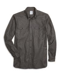 Brooks Brothers | Gray Madison Fit Saxxon Wool Sport Shirt for Men | Lyst