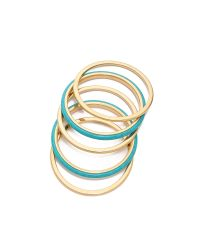 Michael Kors - Blue 5 Stack Bangle Bracelet - Lyst