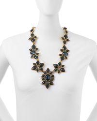 Oscar de la Renta - Black Resin-Facet Necklace - Lyst