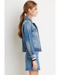Forever 21 | Blue Classic Denim Jacket | Lyst