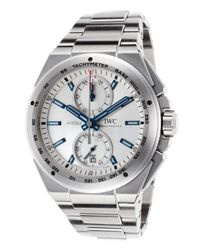 Iwc - Metallic Men's Ingenieur Automatic Chronograph Stainless Steel Silver-tone Dial for Men - Lyst