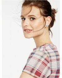 BaubleBar - Black Baguette Deco Ear Crawlers - Lyst
