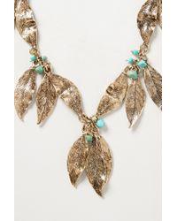 Anthropologie   Metallic Gilded Folia Necklace   Lyst