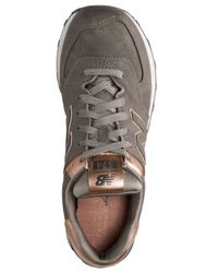 New Balance - Brown Women's 574 Precious Metals Casual Sneakers From Finish Line - Lyst