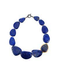 Yossi Harari - Blue Melissa Lapis Bead Necklace - Lyst