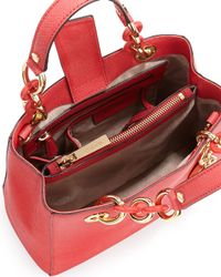 MICHAEL Michael Kors | Red Cynthia Small Satchel Bag | Lyst
