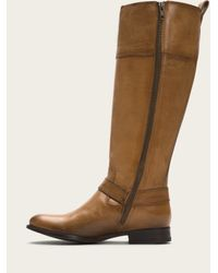 Frye | Natural Melissa Harness Inside Zip Wide | Lyst