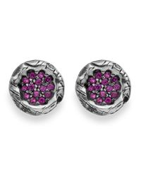 Platadepalo | Purple Zircon & Silver Earrings | Lyst