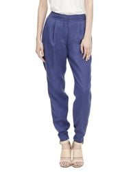 Rebecca Taylor | Blue Washed Twill Pant | Lyst