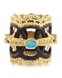 Armenta - Metallic Open Circle Opal Arrow  Diamond Ring - Lyst