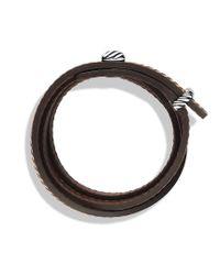 David Yurman - Cable Triplewrap Bracelet in Brown for Men - Lyst