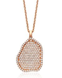Kimberly Mcdonald | Metallic 18k Rose-gold Pavé Diamond Pendant Necklace | Lyst